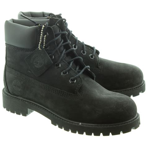 black timberland boots for timberland authentic 6 inch lace boots in black in black