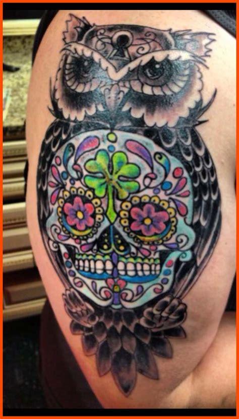 skull tattoo designs and ideas sleeve sugar skull owl tattoos