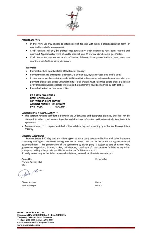 rate agreement template rate agreement template rate lock agreement sle