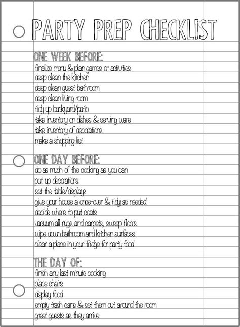planning a house party checklist party prep checklist pretty providence