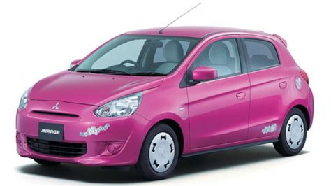 pink mitsubishi mirage say hello to the kitty edition mitsubishi mirage autoblog