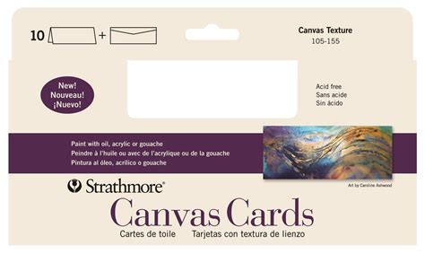 Photo Canvas Gift Card - strathmore canvas cards blank cards and envelopes artist papers