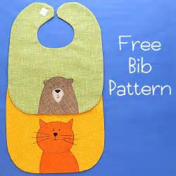 Baby bib pattern adorable and free from shiny happy world