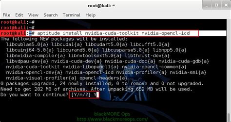 kali linux set toolkit tutorial install proprietary nvidia driver kernel module cuda and