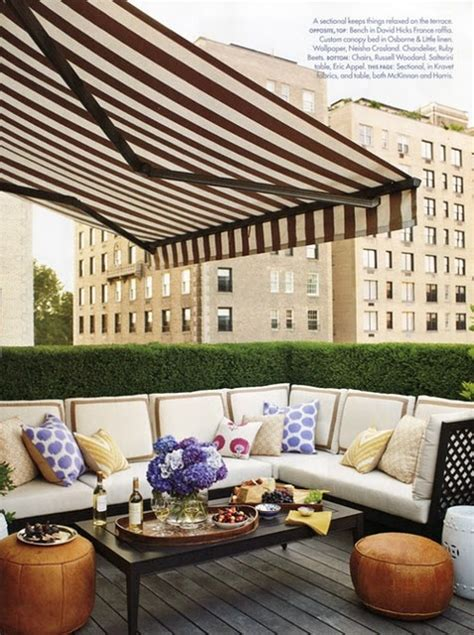 Black And White Awning by Black And White Stripe Awning Patio For The Home