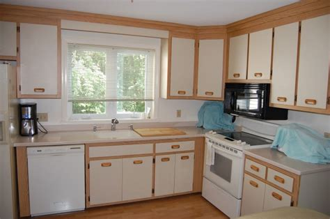 painting wood kitchen cabinets white black gloss tile countertop white wooden kitchen cabinets