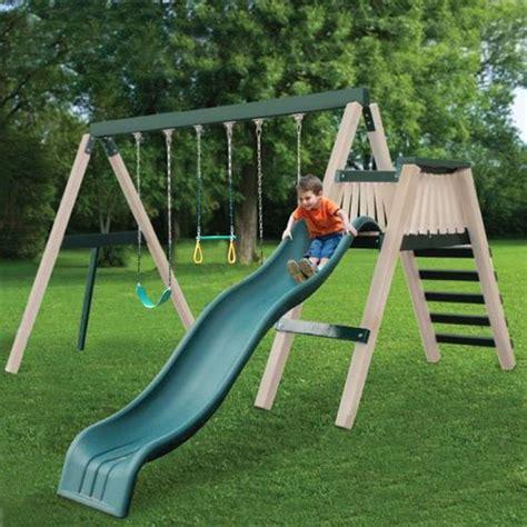 no maintenance swing set awardpedia congo swing n monkey 3 position green and