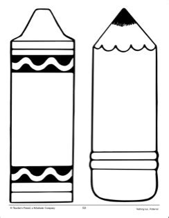 Crayon And Pencil Large Pattern School Activities Pinterest Crayons Patterns And School Crayon Label Template