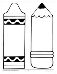 crayon template crayon and pencil large pattern school activities