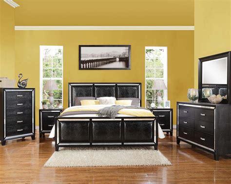 black crocodile bedroom set elberte  acme furniture acset