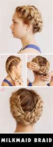 braided hairstyles milkmaid prom updos get milkmaid braids for prom palmas updo