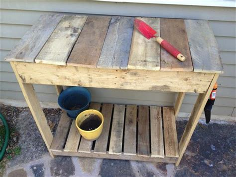 diy potting bench from pallets diy pallet potting bench plan pallets designs