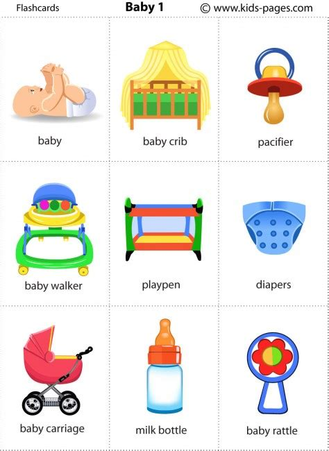 printable flash cards for baby baby 1 flashcard