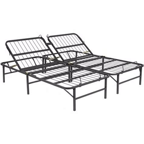 adjustable head metal bed frame king size base platform