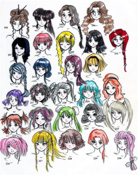 names of anime inspired hair styles 28styles 220 in all edition 5 by neongenesisevarei on