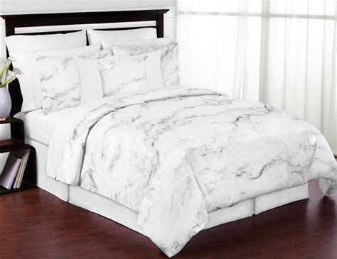 marble black and white king bedding collection