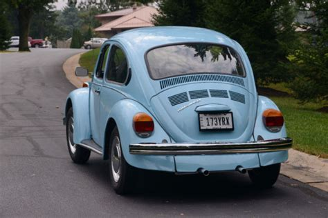 how does a cars engine work 2002 volkswagen rio auto manual 1974 74 vw volkswagen 226 classic beetle bug no reserve baby blue auto stick for sale in mount