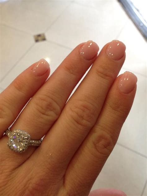 short coffin nails with a natural look essie s quot ladylike kara bosworth on kara nude nails and nude