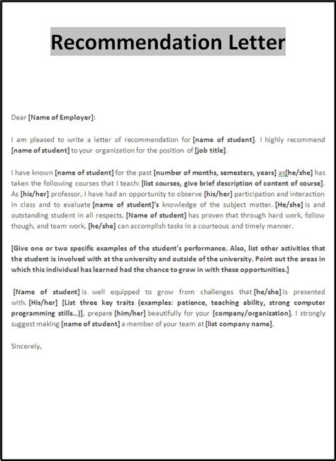 writing a personal recommendation letter template juzdeco com
