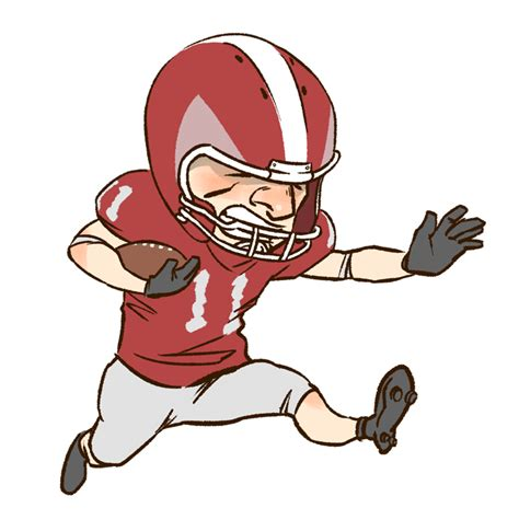 football player clip football player clipart clipart best