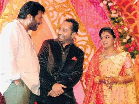 pin nazriya nazim marriage with fahad fazil in august picture on mammootty at nazriya nazim and fahad fazil wedding