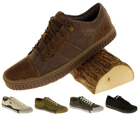 Airwalk Mens Casual Csaba Black N Brown Original Bnib mens caterpillar trainers wide fit canvas distressed cat casual shoes size 7 12 ebay