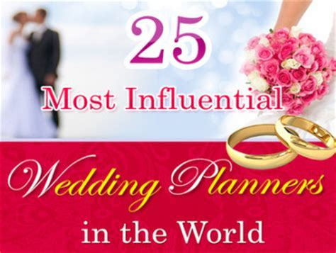 25 of the most influential wedding planners in the world
