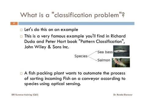 pattern classification john wiley what is pattern recognition lecture 1 of 6