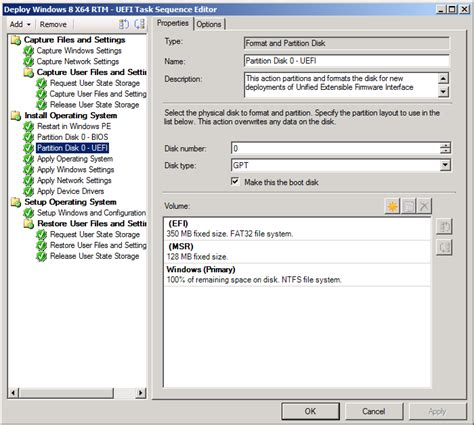 format hard disk uefi how can i deploy windows 8 in uefi mode using
