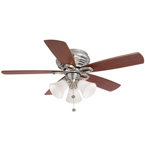 hton bay hawkins 44 ceiling fan monte carlo discus ii 44 in polished nickel ceiling fan
