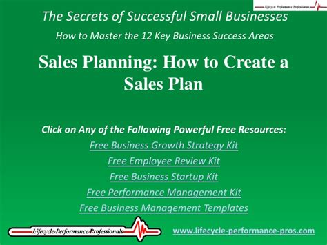 sales planning how to create a sales plan