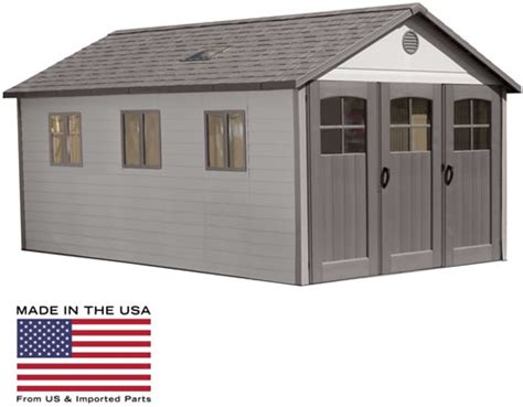 Lifetime Shed Parts by Lifetime 11x21 Storage Shed Garage W Floor Wide Doors