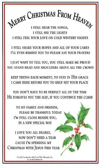 christmas poems  mom  heaven  john prayed  night  words    special poem