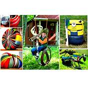 Funny Colorful Design And Shape Of Creative Used Tire