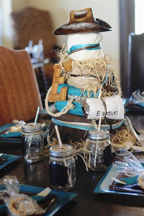 Western Baby Shower Decorations by Kara S Ideas Western Turquoise Baby Shower Kara S