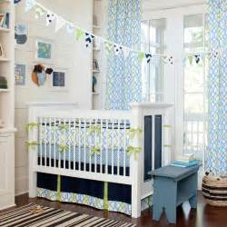 Navy waves crib bedding baby bedding for boys carousel designs