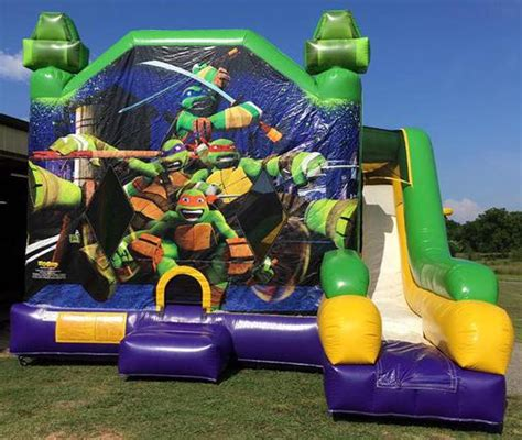 teenage mutant ninja turtles house inflatable teenage mutant ninja turtles bounce house combo