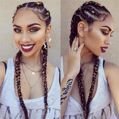 styles of ghana braids using different colours of attachment 31 best ghana braids hairstyles page 2 of 3 stayglam