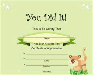 children s certificate template search results for certificate of completion templates