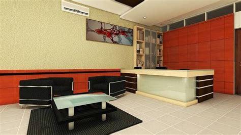 jasa desain interior ruang resepsionis  warna warna cerah ceria jasa desainer