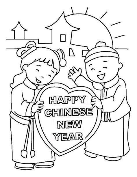 coloring pages for the chinese new year 14 chinese new years day coloring page print color craft