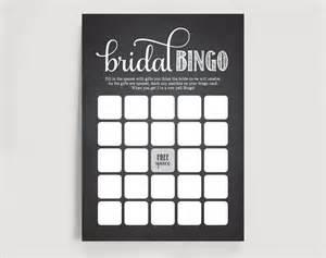 bridal bingo template bridal shower bingo printable template