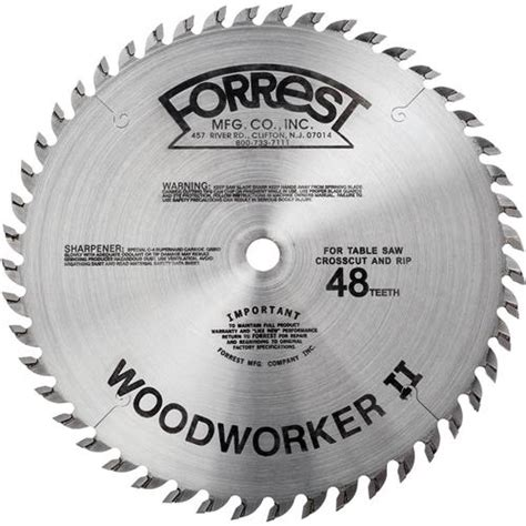 forrest woodworker ii woodworker ii 10 quot 48t 5 8 quot 125 kerf blade grizzly