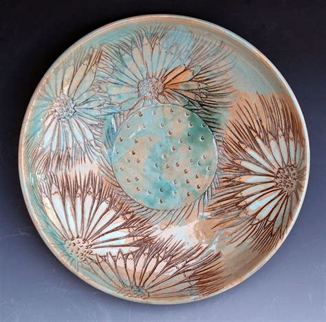 art plates daisy gaillardia plate ceramic art by patty sheppard