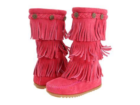 minnetonka toddler boots minnetonka 3 layer fringe boot toddler kid