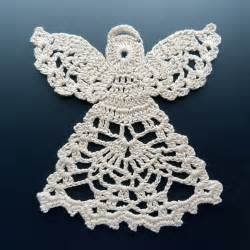 crocheted doily angel in lace thread crochet pinterest