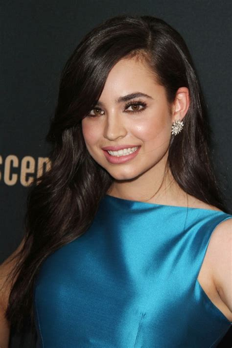 sofia carson wavy dark brown side part hairstyle steal