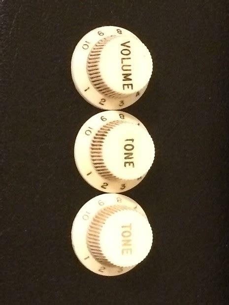 fender stratocaster knobs 1962 white reverb
