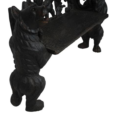 black forest bear bench mid 20th century black forest bear bench for sale at 1stdibs