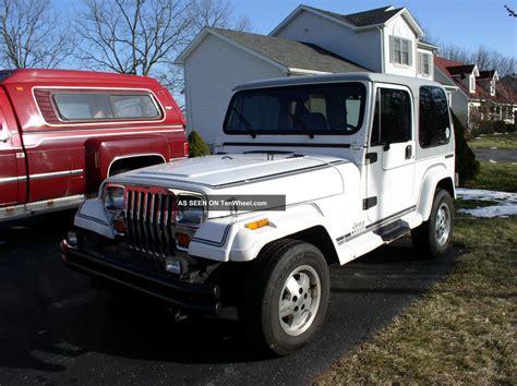jeep wrangler 1989 1989 jeep wrangler laredo loaded rust yj